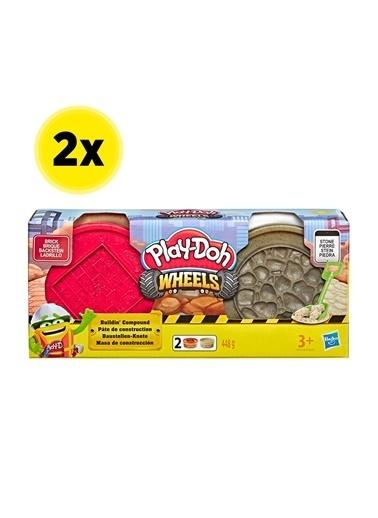 Hasbro Play-Doh İnşaat Hamuru - Tuğla Ve Taş X 2 Adet Renkli